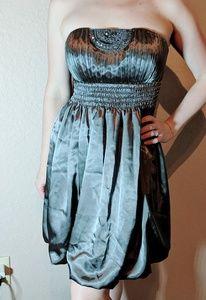 Lyndia Procanik taupe strapless dress prom/weeding